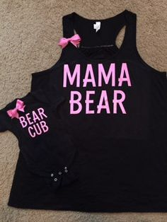 Hey, I found this really awesome Etsy listing at https://www.etsy.com/listing/243944254/momma-bear-bear-cub-set-mommy-and-baby