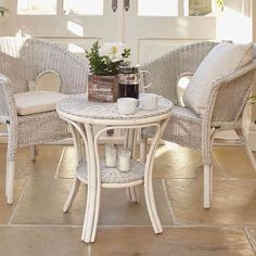 Cane Conservatory Furniture and Cane Breakfast Sets Small Conservatory Furniture, Conservatory Ideas, Garden Furniture, Table And Chairs, Dining Chairs, Garden Patio Sets, Bistro Table Set, High Back Chairs, Dining Room Sets