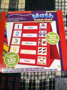 """Scholastic: """"MATH POCKET CHART/ACTIVITY CENTER"""" Includes over 130 Cards: AWESOME! Starting Bid Only $9.00....A REAL BARGAIN....Come get in on the fun!  Won't last long! Only have one!"""
