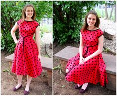 Similar to the 50's dressmade on the sewing bee - sides wraparound and meet in centre front