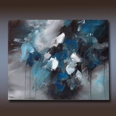 """Large Original Acrylic Abstract Fine Art Painting, 24 x 30 Gallery Wrap Canvas,""""Out of the Storm"""" by Linda Miller Art"""