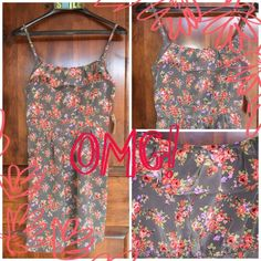 NWT Gorgeous  flirty lil dress Features ruffled pockets, flirty flounce top, adjustable straps, and back zipper. The prettiest little dress! Dresses