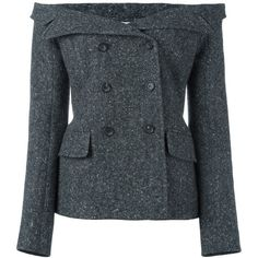 Faith Connexion tweed sailor jacket (1.675 BRL) ❤ liked on Polyvore featuring outerwear, jackets, grey, tweed jacket, sailor jacket, grey tweed jacket, gray jacket and gray tweed jacket