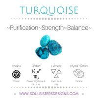 Metaphysical Healing Properties of Turquoise, including associated Chakra, Zodiac and Element, along with Crystal System/Lattice to assist you in setting up a Crystal Grid. Go to https:/www.soulsistersdesigns.com to learn more!