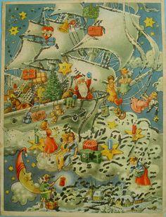 Vintage German Advent calendar