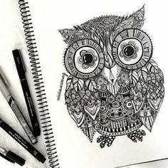 draw drawing owl - Hledat Googlem