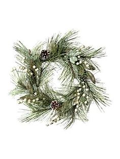Modern romance glittered wreath by House of Fraser. This is my idea of a wreath that incorporates green.
