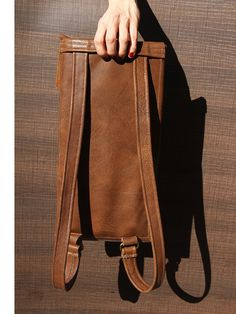 Chef Knives Leather Backpack Brown Chef Leather Bag by YaelHeffer