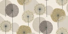 Eco Revival (5658) - Eco Wallpaper Wallpapers - Stylised dandelion clocks in fresh shades of green with black highlights on a cream background - more colours are available Please request a sample for true colour match. Paste-the-wall product.