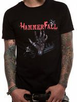 Officially Licensed Import Hammerfall T-shirt design printed on a black 100% cotton short sleeved T-shirt.