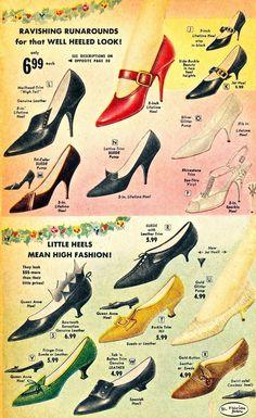 """Ravishing Runarounds for that Well-Heeled Look""  Florida Fashions Catalog 1960"