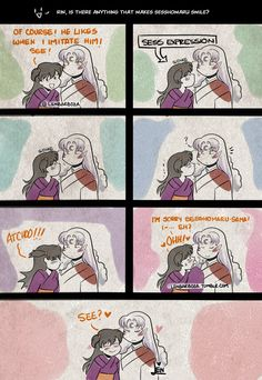 Anonymous said: (For naughty questions) Is there ANYTHING that makes Sesshomaru smile? Inuyasha Memes, Inuyasha Funny, Rin And Sesshomaru, Inuyasha Fan Art, Inuyasha And Sesshomaru, Kagome And Inuyasha, Anime Pregnant, Seshomaru Y Rin, Anime Reccomendations