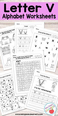V Practice | Preschool | Pinterest | Preschool learning, Free ...
