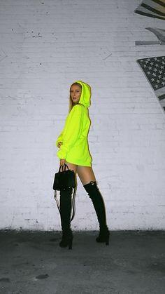 Get this look: http://lb.nu/look/8858317  More looks by Katie Van Daalen Wetters: http://lb.nu/styleincali  Items in this look:  Forever 21 Neon Sweatshirt, Stuart Weitzman Highland Boots, Saint Laurent Sac De Jour Nano   #edgy #sporty #street #fashionblogger #fblogger #blogger #bloggerstyle #styleblogger #fashion