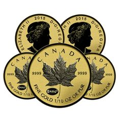 Lot of 5 - 2015 1/10 oz Gold Canadian Maple Leaf E=mc2 Privy Reverse Proof $5 Coin (Sealed) | Bullion Exchanges