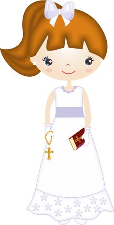 Girl First Communion Clip Art. Baptism Cookies, Girl Clipart, Religious Education, Free Girl, First Holy Communion, Digital Stamps, Cute Art, Christening, Little Girls