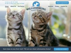 Williamsburg Animal Clinic provides compassionate care for cats, dogs, and other animals throughout the Katy area. To reach more pet owners, the clinic turned to Hyperlinks Media to replace their outdated website with a modern veterinary web design that included a great user experience and a clean design. #VeterinaryClinicWebsiteDesign #WilliamsburgAnimalClinic
