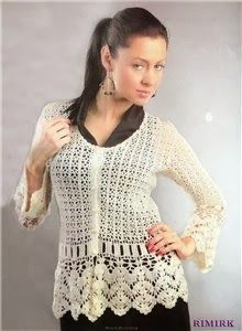 Cardigan with diagrams