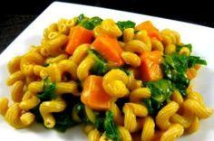 Pasta with Butternut Squash Sauce & Greens by Karis Kuckleburg