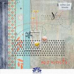 Free Coffee and Friends Mini Kit from Blue Flower Art | Oscraps Black Friday Blog Hop