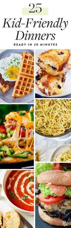 25 Kid-Friendly Dinners You Can Make in 20 Minutes or Less #purewow #food #dinner #cooking #family #recipe #easy