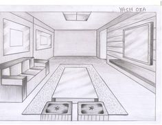 Low Budget Home Decoration Ideas One Point Perspective Room, 2 Point Perspective Drawing, Perspective Art, Interior Design Sketches, Interior Design Website, Best Interior Design, Interior Design Services, Basic Drawing, Drawing Tips