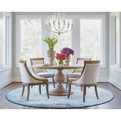 Looking for modern dining room ideas with furniture and decor? Explore our beautiful dining room ideas for interior design inspiration. Round Table Decor, Dining Table Decor, Dining Room Furniture, Dining Room Rug, Dining Chairs, Round Dining Room Table, Round Dining Table, Dinning Room Tables, Farmhouse Dining