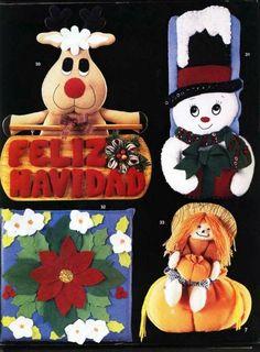 Revistas de fieltro para descargar gratis Sewing Projects For Beginners, Frozen, Felt, Teddy Bear, Christmas Ornaments, Toys, Crochet, Animals, Origami