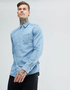 0f5da1fecfc Get this Wrangler s denim shirt now! Click for more details. Worldwide  shipping. Wrangler