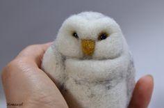 Snow owl by Krupennikova Oxana. Войлочная игрушка Полярная сова, Крупенникова Оксана.