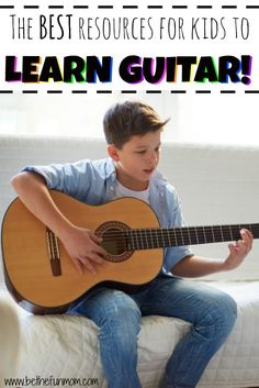 If your kiddo is dying to be a rock star, get him started with the BEST (and cheapest) ways to learn guitar!