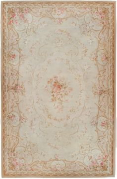 Aubusson Floral Rug, 19th century