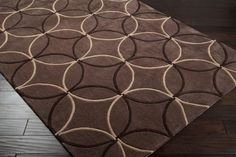 Cosmopolitan Area Rug | Brown Geometric Rugs Hand Tufted | Style COS8868