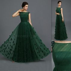 Indian Gowns Parties Dark Green Tulle Sheer A Line Evening Party Dresses Long Floor Length Cap Sleeves 2015 Elegant Prom Dress For Girls White Party Dresses For Juniors Women Party Dress From Firstladybridal, $113.2| Dhgate.Com