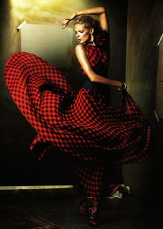 Julia Stegner in Ralph Lauren | Ph. by Alexi Lubomirski German Vogue December 2008