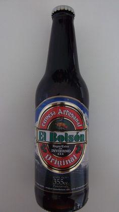 Cerveja El Bolsón Negra Extra de Invierno XXX, estilo Doppelbock, produzida por Cervecería El Bolsón, Argentina. 8% ABV de álcool.