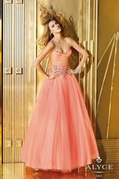 A Pretty Collection of Alyce Prom Dresses