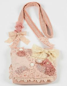Patchwork lace bag pink
