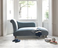The Brontë chaise longue is beautifully handmade by our skilled craftsmen in Blighty. It comes in a choice of over 60 fab fabrics.