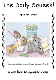This image is from artist Ellen Jareckie's line of whimsical mice, House-Mouse Designs®. You can click on the image to go to a wonderful gallery of all of the  products it is currently available on. Bunny Images, Us Images, House Mouse Stamps, Verses For Cards, Cute Mouse, Blank Cards, Get Well, Round Stickers, Note Cards