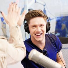 Niall doing radio promo in Los Angeles today! I Love Him, My Love, Behind My Back, James Horan, Irish Men, On Set, My Man, Bartender, One Direction