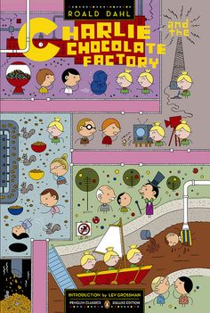 charlie and the chocolate factory front    cover by ivan brunetti: www.facebook.com/pages/Ivan-Brunetti/234565237827