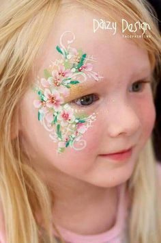 Spring flowers face paint
