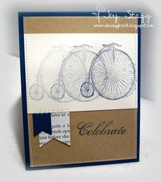 Celebrate....using Feeling Sentimental by SU, card by Joy Stagg but cased off Pinterest