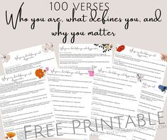 100 Bible verses that say who you are, what defines you, and why you matter | The Sparrow's Home Bible Verses For Women, How To Teach Kids, Christian Post, Joy Of The Lord, Christian Families, You Matter, Marriage And Family, Christian Encouragement, Work From Home Moms