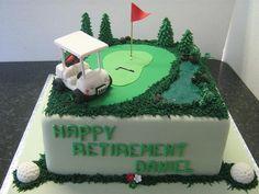 Golf Retirement cake by sherene-lefondant, via Flickr