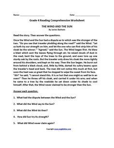 Comprehension Worksheets Grade 4 Lacocinamagicanet