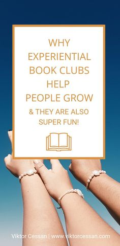 Experiential book clubs help people grow, and they're fun too! Book Clubs, Book Club Books, Problem Solving Exercises, Learning People, Career Development, Personal Development, Difficult Conversations, Leadership Tips, Thing 1