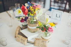 Colorful Anemone Centerpieces