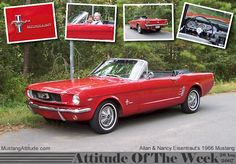 This has always been my dream car - 1966 candy apple red Mustang convertible. In love.
